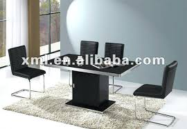 medium size of savor modern round extendable black lacquer dining table for wooden metal frame
