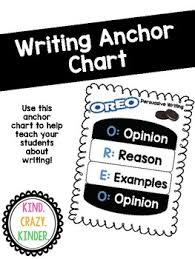 Oreo Opinion Writing Anchor Chart Worksheets Teaching