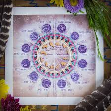 Native American Birth Chart Native American Zodiac Canvas Chart For Connecting With Your Birth Totem