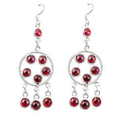 sold out 925 sterling silver natural red garnet chandelier earrings jewelry d9855