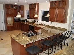 granite countertop kitchen island kitchen countertops types
