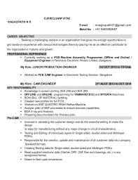 JUNIOR PRODUCTION ENGINEER RESUME. CURRICULAM VITAE RAGHUPATHI N R E-mail :  nrraghupathi91@gmail.com Mobil No ...