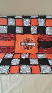 Best 25+ Rag quilt patterns ideas on Pinterest | Down quilt ... & Custom Harley Davidson rag quilt Facebook.com/fromoutofkimscraftroom to  order! Adamdwight.com
