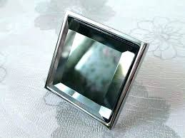 mercury glass cabinet pull knobs square crystal kitchen pulls handle