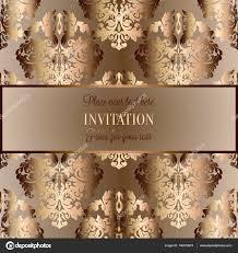 Barokke Achtergrond Met Antiek Luxe Beige Bruin En Goud Vintage
