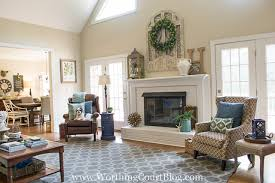 amazing makeover of a date red brick and oak wood surround fireplace