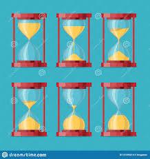 Antique Sand Clock Sprite Sheet Animation Sand Timers Set