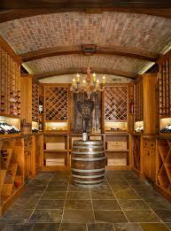brown wine cellar with wooden wine racks wine cellar rustic and rustic
