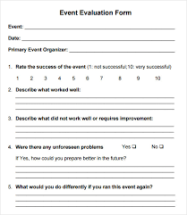 Letter Of Agreement Samples Template Simple R] Event Evaluation Form And Feedback Form Example Vatansun