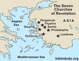 Letters To The Seven Churches Chart Map Of Revelations Seven Churches