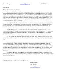 Cover Letter With Resume Awesome Professional Cover Letter Resume Of Michael Tarango June40