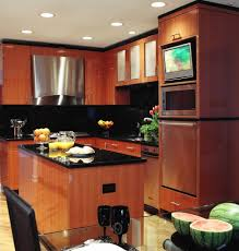 Tv In Kitchen Tv In Backsplash Kitchen Contemporary With High Gloss Backsplash
