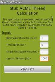 Stub Acme Thread Calculation 4 0 Apk Download Android