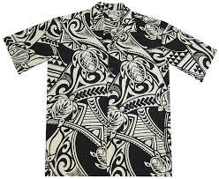Aloha Republic Maori Tribal Tattoo Mens Hawaiian Shirt