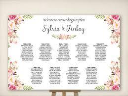 Wedding Seating Chart Table Seating Plan Wedding Sign