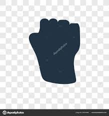 Fist Transparent Background Background Fist Transparent Fist Vector Icon Isolated