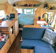inspirational diy skoolie bus conversion