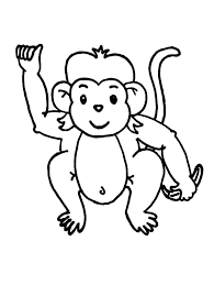 Printable Monkey Cute Monkey Coloring Pages Printable Monkey