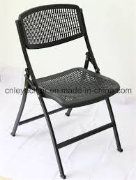 black metal folding chairs. China Good Quality New Hot Sale Popular Plastic/Metal Folding Chair - Metal Chair, Office Black Chairs E
