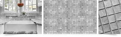 gray mosaic metallic kitchen backsplash mosaic tile