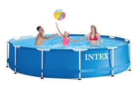 target intex 12 x 30 metal frame above ground pool 77 28