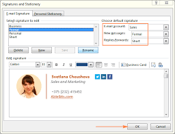 Outlook Signature How To Create Add And Change Email Signature