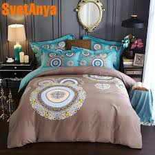 svetanya pima cotton bedding set queen king double size bedsheet pillowcases and duvet cover sets bohemia style duvet duvets from