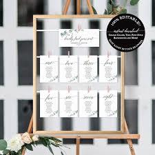 Wedding Seating Plan Template Hanging Seating Cards