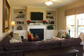 cozy family room ideas with mounted over fireplace royal oaks homes basement furniture87 cozy