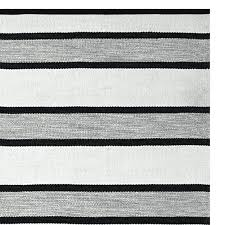 awning stripe indoor outdoor rug black white and striped canada perennials