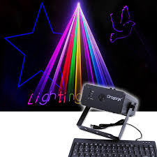 Lighting Geek 300mw Rgb Text Laser Projector With Keyboard