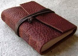 old world leather journal vintage