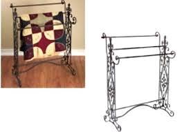 Free Standing Quilt Display Rack Inspiration Wrought Iron Quilt Rack Elleinadspir
