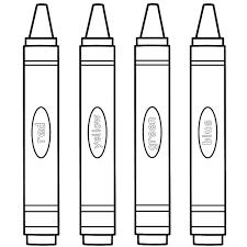 Crayon Coloring Pages Printable Red School Arilitv Com Crayola Logo