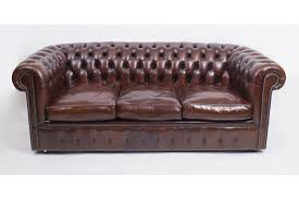 bespoke english leather chesterfield sofa bed bbo photo 1