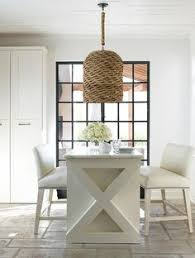 raising the bar love the bench seating great wicker pendant lighting kay dougl design find this pin and more on dining rooms