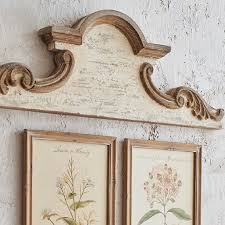shabby chic arched wood wall decor