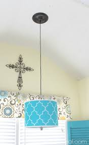 turn a lamp shade into a hanging pendant light