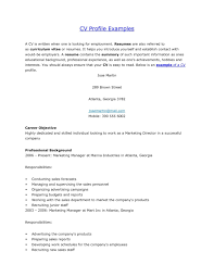 Profile For Resume Personal Sample Example How To Peppapp