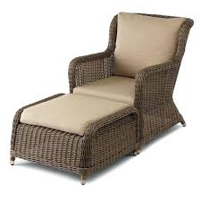 chair ottoman set. Outdoor Chair And Ottoman Resin Wicker Set