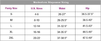 Maidenform Waist Nipper Size Chart Maidenform Easy Up Waist Nipper 2368