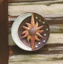 sun moon outdoor wall art