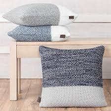 haven colorblock knit decorative pillow
