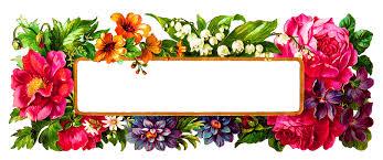 frame design. Wildflower Frame Digital Design