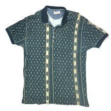 90s Pattern Shirts Beauteous Arizona Jean Company Shirts 48s Style Multicolor Geometric Polo