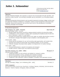Resume Format Sample Download Ginger Account Manager Resume Template