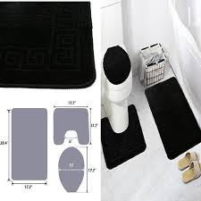 3 pcs pattern bathroom rug decorative set mat contour lid cover fayari 3 piece