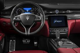 quattroporte gts chrome pattern red leather interior and dashboard