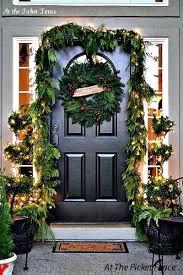 Garland On Front Door Around Pictures