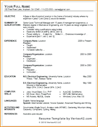 Resume Templates On Microsoft Word 2010 Template Chronological